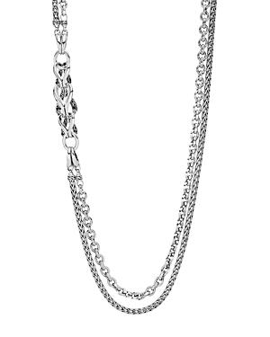John Hardy Sterling Silver Classic Chain Double-row Station Necklace, 30