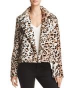 Sunset & Spring Leopard-print Faux Fur Jacket - 100% Exclusive