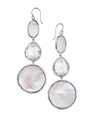 Ippolita Sterling Silver Ondine Clear Quartz & Mother-of-pearl Drop Earrings