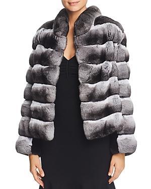 Maximilian Furs Chinchilla Fur Coat With Mink Fur Trim - 100% Exclusive