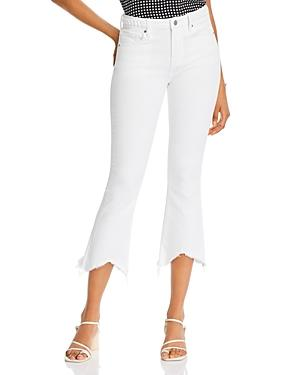 Aqua Roxy Frayed Cropped Jeans In White - 100% Exclusive
