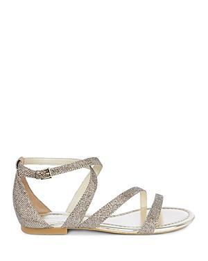Karen Millen Glitter Ankle Strap Sandals