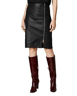 Karen Millen Coated Denim Pencil Skirt