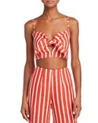 Faithfull The Brand De Fiori Striped Crop Top