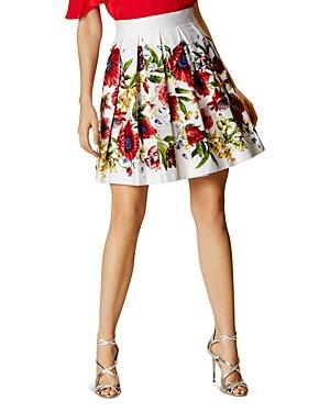 Karen Millen Atelier Floral Pleated Skirt