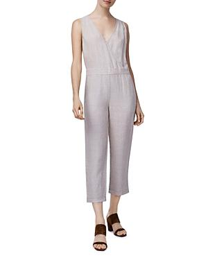 B New York Crossover Linen Jumpsuit
