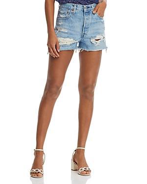 Levi's 501 Cutoff Denim Shorts In Fault Line