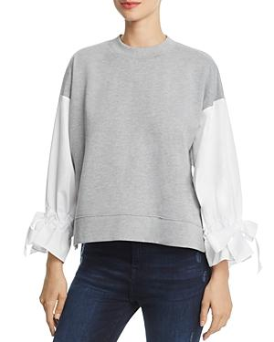 Alpha And Omega Contrast Tie-sleeve Sweatshirt
