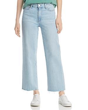 Paige Nellie Crop Wid-leg Jeans In Myrtle