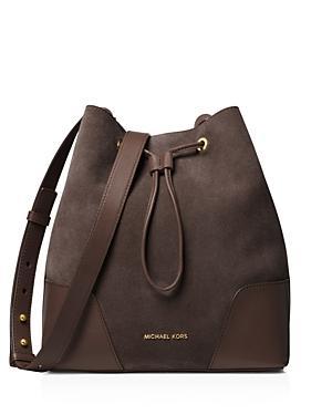 Michael Michael Kors Cary Medium Suede Bucket Bag