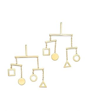 Mateo 14k Yellow Gold Kinetic Objects Earrings