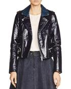 Maje Basali Patent Leather Jacket