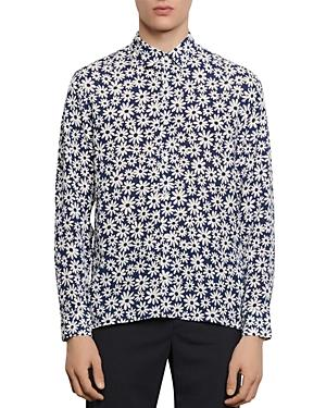 Sandro Slim-fit Floral Casual Shirt