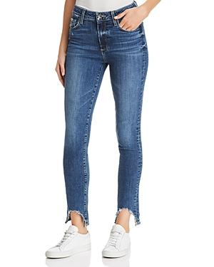Paige Hoxton Frayed Ankle Skinny Jeans In Hannie