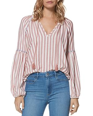 Paige Jovannie Striped V-neck Top