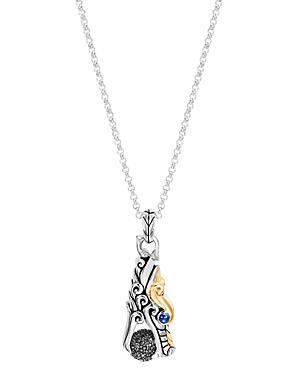 John Hardy Sterling Silver & 18k Yellow Gold Legends Naga Multi-gemstone Dragon Pendant Necklace, 36