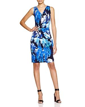 T Tahari Nessa Faux Wrap Dress