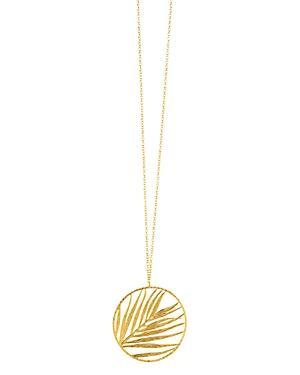 Gorjana Palm Pendant Slider Necklace, 34