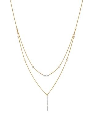 Moon & Meadow Diamond Bar Station Layered Necklace In 14k Yellow Gold, 0.21 Ct. T.w. - 100% Exclusive