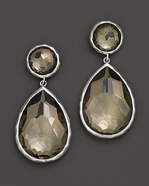 Ippolita Sterling Silver Wonderland Teardrop Snowman Post Earrings In Pyrite