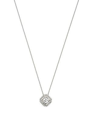 Bloomingdale's Diamond Halo Pendant Necklace In 14k White Gold, 0.75 Ct. T.w. - 100% Exclusive