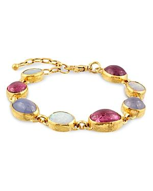 Gurhan 24k/22k Yellow Gold Multistone Bracelet