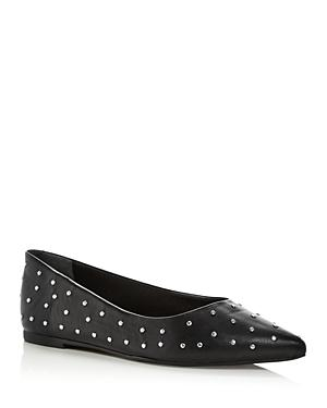 Schutz Women's Benia Studded Pointed Toe Flats