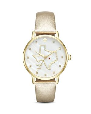 Kate Spade New York Leather Texas Metro Watch, 34mm