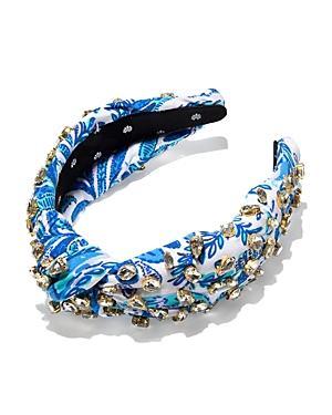 Lele Sadoughi X Lilly Pulitzer Crystal Embellished Knot Headband