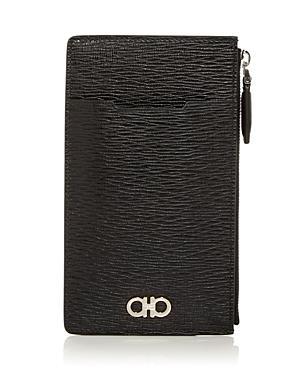 Salvatore Ferragamo Revival Zip Leather Card Case