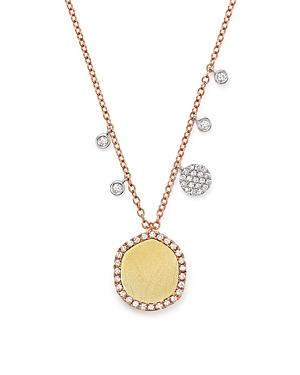 Meira T 14k Gold Pendant Necklace With Diamonds, 18