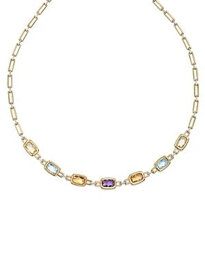 Multi Gemstone Necklace In 14k Yellow And White Gold, 18 - 100% Exclusive