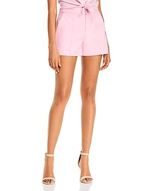 Alice + Olivia Dylan High-waist Pintucked Shorts