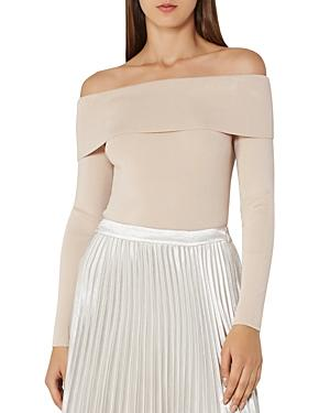 Reiss Ximena Banded Off-the-shoulder Top