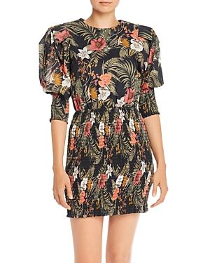 Rebecca Minkoff Geneva Printed Smocked Cotton Mini Dress