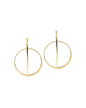 14k Yellow Gold Sheer Circle Earrings