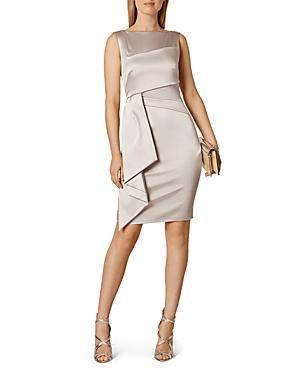 Karen Millen Sleeveless Drape-detail Dress