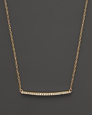 Diamond Mini Bar Necklace In 14k Yellow Gold, .10 Ct. T.w.