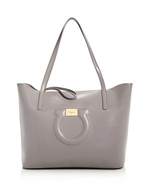 Salvatore Ferragamo Leather City Tote