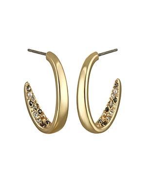 Karl Lagerfeld Paris Crystal Hoop Earrings