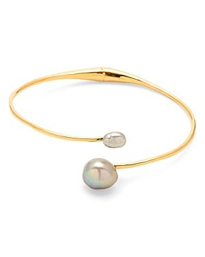 Gorjana Vienna Cultured Freshwater Pearl Bypass Bracelet