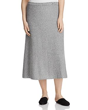 Eileen Fisher Plus Marled Midi Flare Skirt - 100% Exclusive