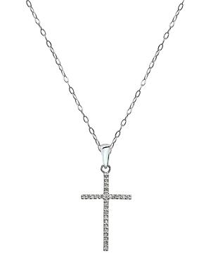 Marc & Marcella X Bloomingdale's Diamond Cross Pendant Necklace In Sterling Silver, 16 - 100% Exclusive
