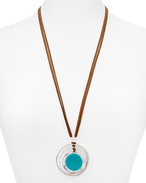 Robert Lee Morris Soho Circle Pendant Necklace, 26