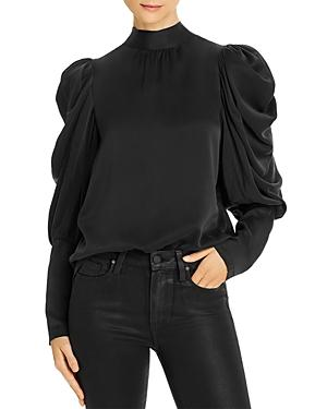 Notes Du Nord Missy Silk Puff-sleeve Blouse