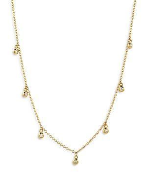 Zoe Lev 14k Yellow Gold Diamond Charm Necklace, 18