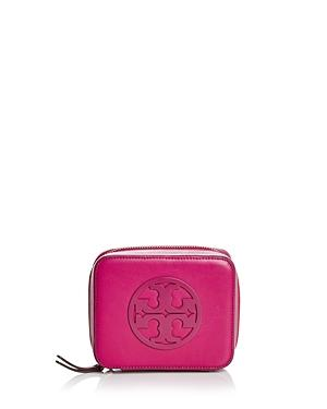 Tory Burch Charlie Medium Leather Jewelry Case
