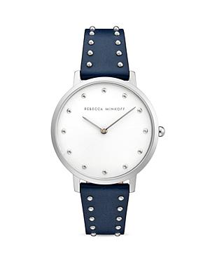 Rebecca Minkoff Major Micro Studded Leather Strap Watch, 35mm