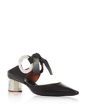 Proenza Schouler Women's Pointed-toe Block-heel Mules