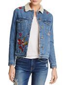 Mavi Katy Embroidered Denim Trucker Jacket